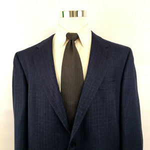 Hart Schaffner Marx Two Button Suit Jacket Sz 48L